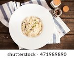 risotto with mushrooms and... | Shutterstock . vector #471989890