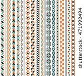 vector tribal ethnic seamless... | Shutterstock .eps vector #471992494