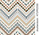 vector tribal ethnic seamless... | Shutterstock .eps vector #471992530