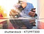 designer hand working in... | Shutterstock . vector #471997300