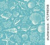 seamless pattern with seashells ...   Shutterstock . vector #471998548