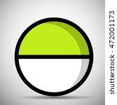 green pokeball | Shutterstock .eps vector #472001173