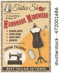 Tailor Shop Poster With Sewing...