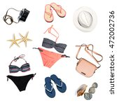 woman swimsuit beach...   Shutterstock . vector #472002736