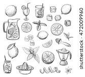 collection lemonade. vector...   Shutterstock .eps vector #472009960