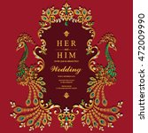 wedding invitation or card with ... | Shutterstock .eps vector #472009990