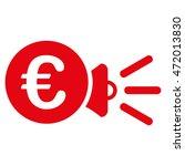 euro megaphone ads icon. vector ... | Shutterstock .eps vector #472013830
