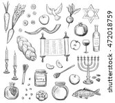 vector sketches attributes... | Shutterstock .eps vector #472018759