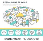 restaurant service concept... | Shutterstock .eps vector #472020940
