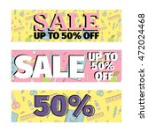 set of sale banners promotion... | Shutterstock .eps vector #472024468