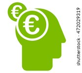 euro businessman intellect icon.... | Shutterstock .eps vector #472029319
