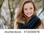 Beautiful Young Woman In Winte...