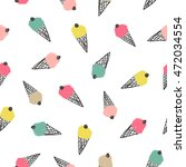 seamless pattern with ice cream | Shutterstock .eps vector #472034554