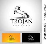 horse logo icon badge emblem.... | Shutterstock .eps vector #472036960