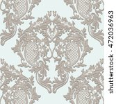 vector damask lace floral... | Shutterstock .eps vector #472036963