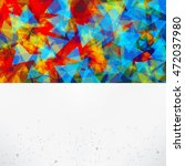 abstract background with... | Shutterstock .eps vector #472037980