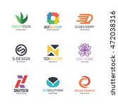 abstract logo icons design ... | Shutterstock .eps vector #472038316
