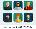 world religions monk people... | Shutterstock .eps vector #472038334