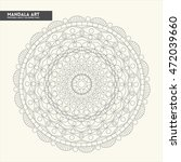 mandala coloring page for adults | Shutterstock .eps vector #472039660