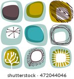 mid century abstract shapes ... | Shutterstock .eps vector #472044046