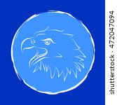 eagle head icon. vector... | Shutterstock .eps vector #472047094