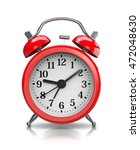red classic alarm clock on... | Shutterstock . vector #472048630