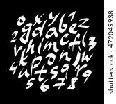 alphabet letters.white... | Shutterstock .eps vector #472049938