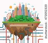 big city concept illustration... | Shutterstock .eps vector #472052320