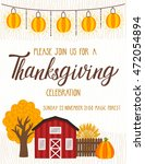 vector thanksgiving invitation... | Shutterstock .eps vector #472054894