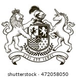coat of arms of  knight. vector ... | Shutterstock .eps vector #472058050