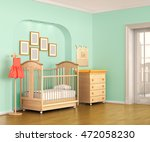 colorful interior of nursery.... | Shutterstock . vector #472058230