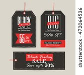 set of three creative sale or... | Shutterstock .eps vector #472064536