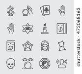 psychic fortune teller line icon | Shutterstock .eps vector #472068163