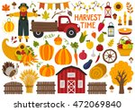 Set Of Cute Hand Drawn Autumn...