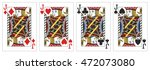 4 of a kind jacks poker playing ... | Shutterstock .eps vector #472073080