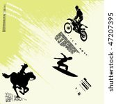extreme sports grunge... | Shutterstock .eps vector #47207395