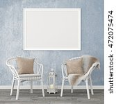 neutral interior mockup with... | Shutterstock . vector #472075474