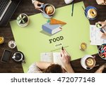 food plan meal cook book concept | Shutterstock . vector #472077148