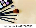cosmetic brush for make up eye... | Shutterstock . vector #472080760