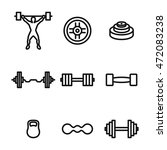 barbell vector icons. simple...