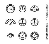 speedometer vector icons....