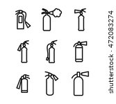 gas cylinder vector icons....