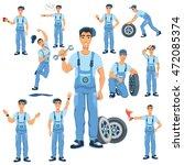 auto mechanic character vector  ...