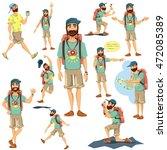 tourist character vector... | Shutterstock .eps vector #472085389