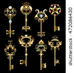 Set Of Gold  Jewelry Keys ...