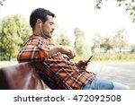close up portrait of a man...   Shutterstock . vector #472092508