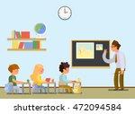 school lesson. little students... | Shutterstock .eps vector #472094584