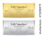elegance gift voucher or gift... | Shutterstock .eps vector #472098979