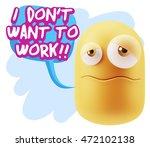 3d rendering sad character... | Shutterstock . vector #472102138
