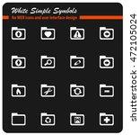 folders icon set for web sites...   Shutterstock .eps vector #472105024